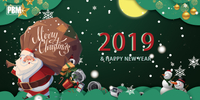 PBM Motor and Fan Warm Greetings for Merry Christmas and Happy New Year 2019